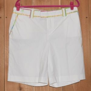 Lilly Pulitzer White Palm Beach Fit Shorts